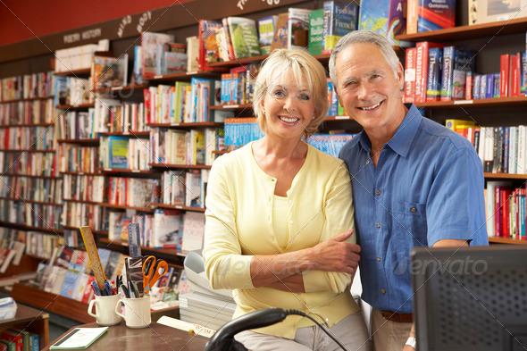 PhotoDune Couple running bookshop 317234
