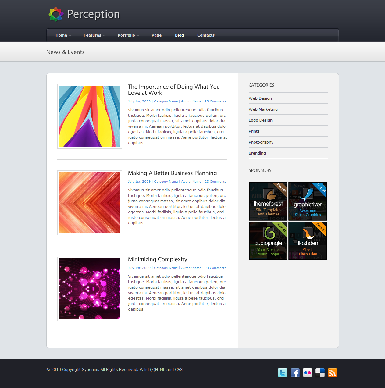 Perception - Premium WordPress Theme