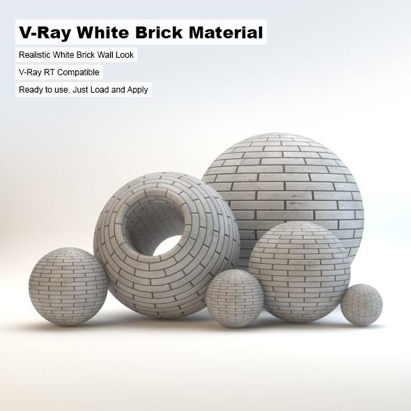 3DOcean V-Ray White Brick Material 3083355