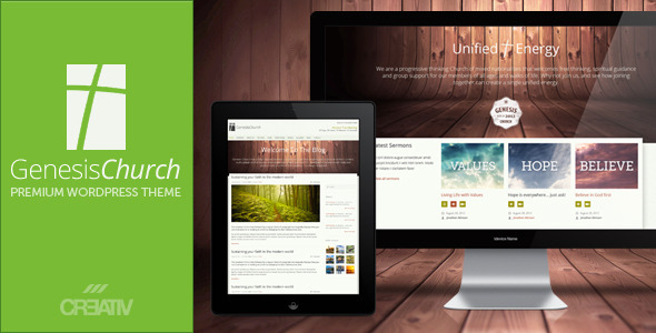 ThemeForest Genesis Church Premium Responsive WordPress Them 3083436