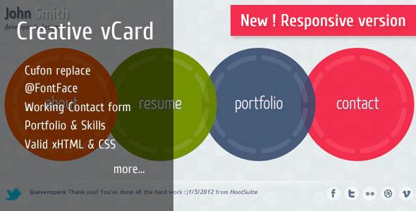 Circlus - Personal Portfolio&vCard HTML5&CSS3 Theme