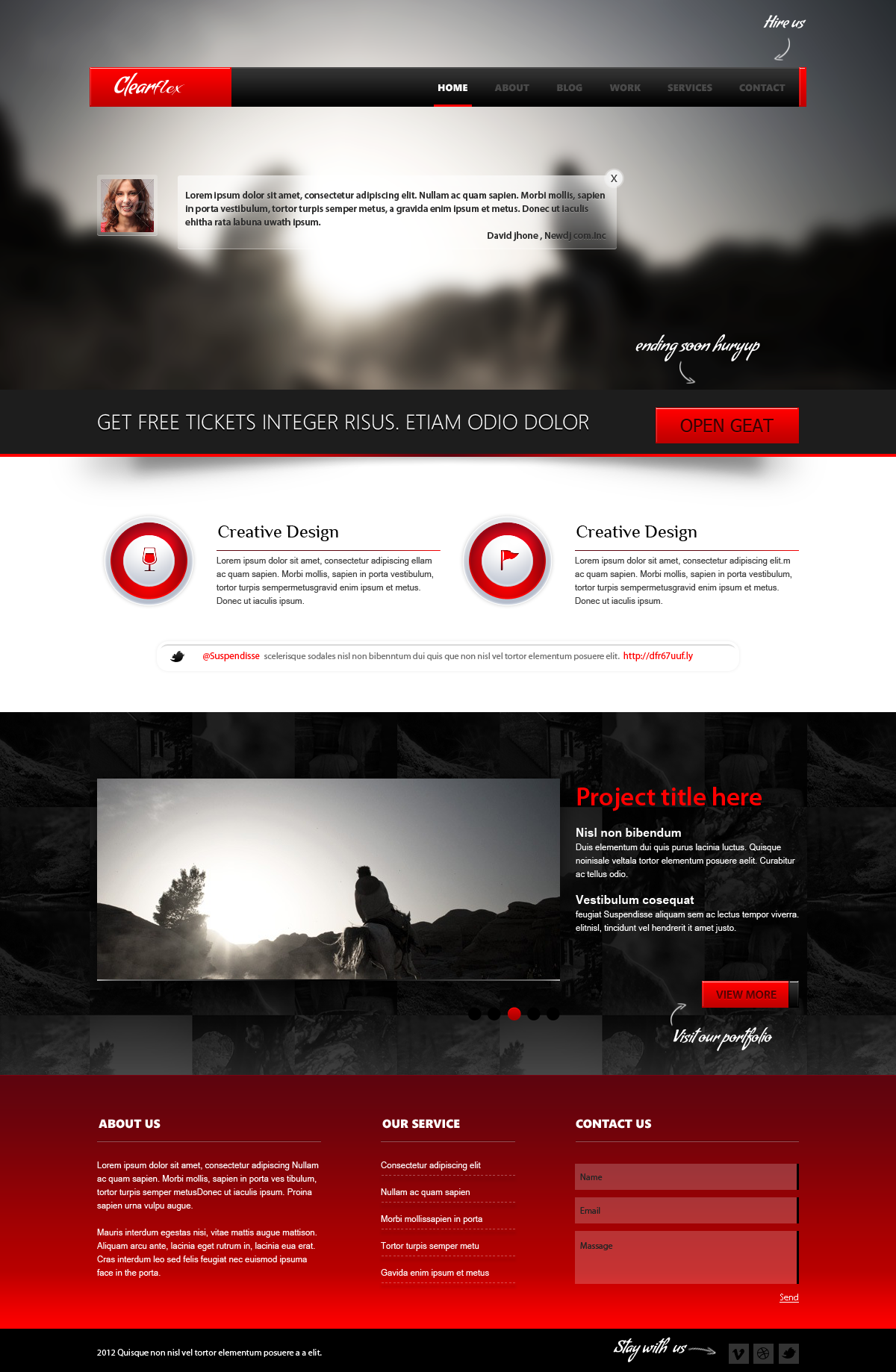 Clearflex PSD Templates - 01_Home page
