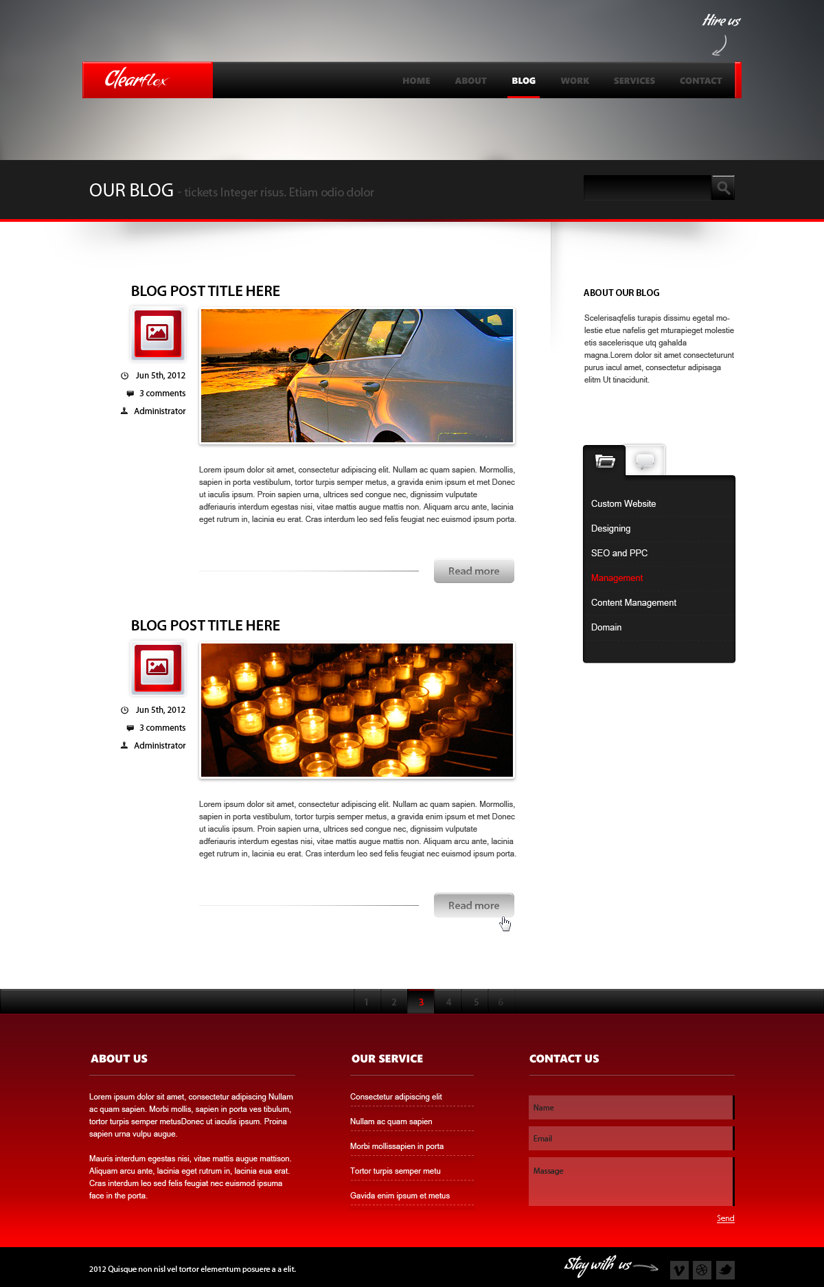 Clearflex PSD Templates - 06_Blog page-1