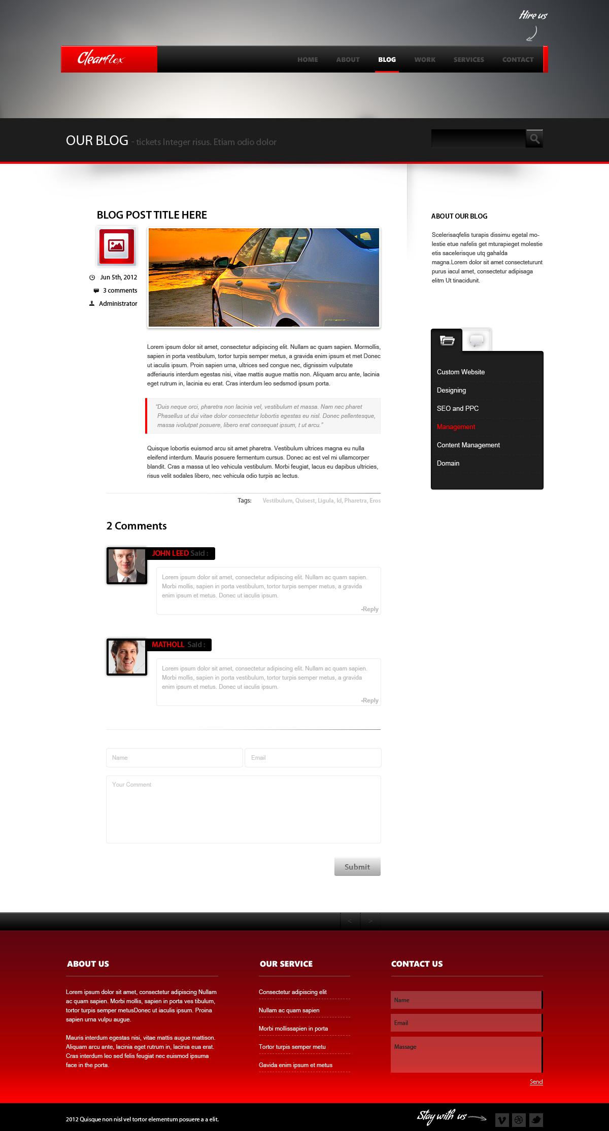 Clearflex PSD Templates - 09_Single blog page