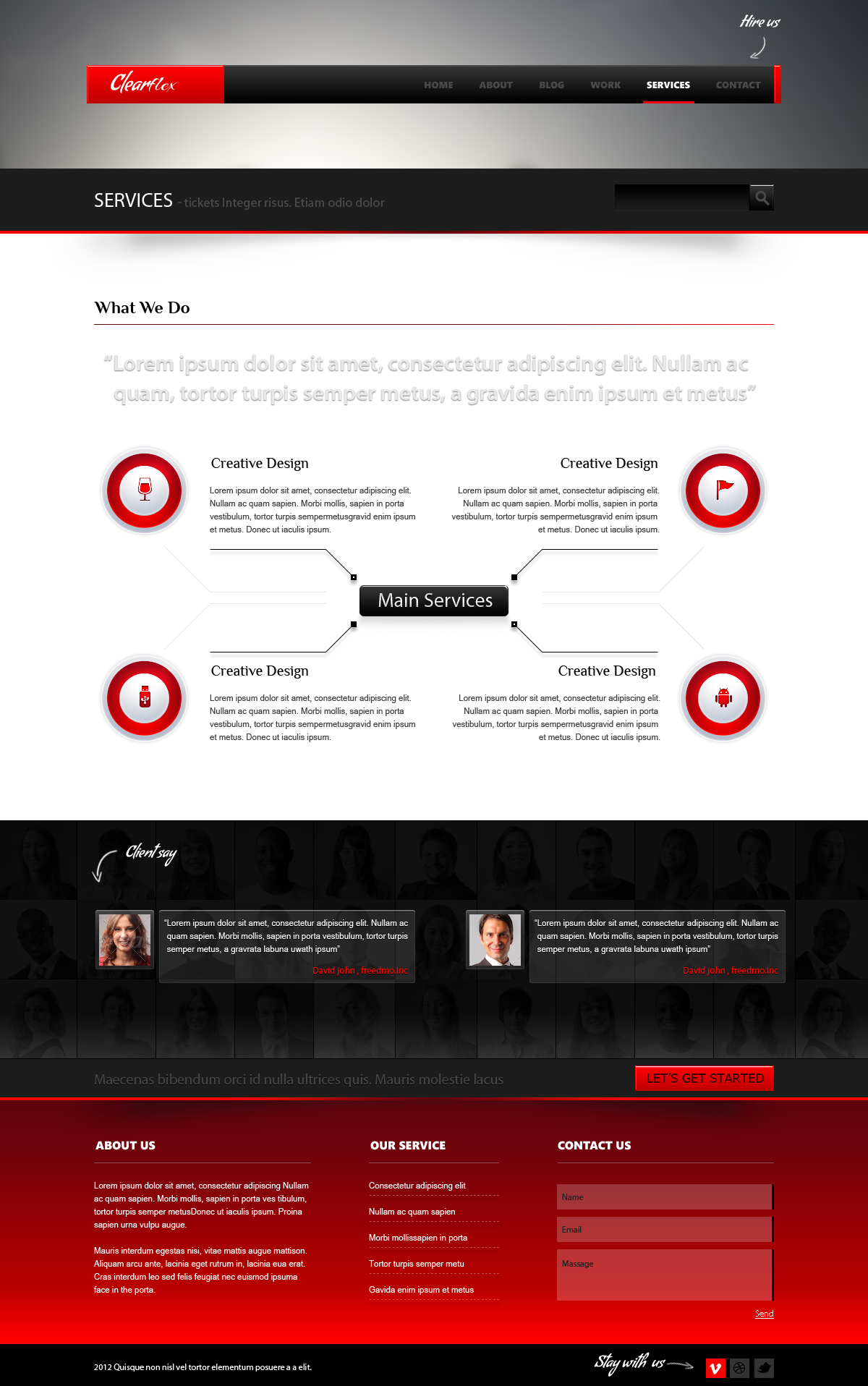 Clearflex PSD Templates - 10_Service page