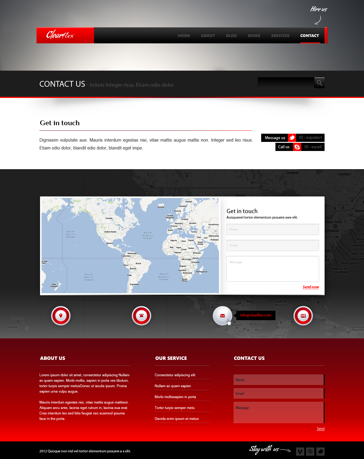 Clearflex PSD Templates - 11_Contact page