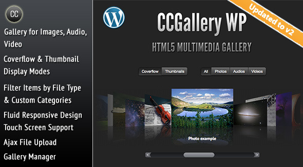 CodeCanyon CCGallery WP Multimedia Gallery Wordpress Plugin 2388849
