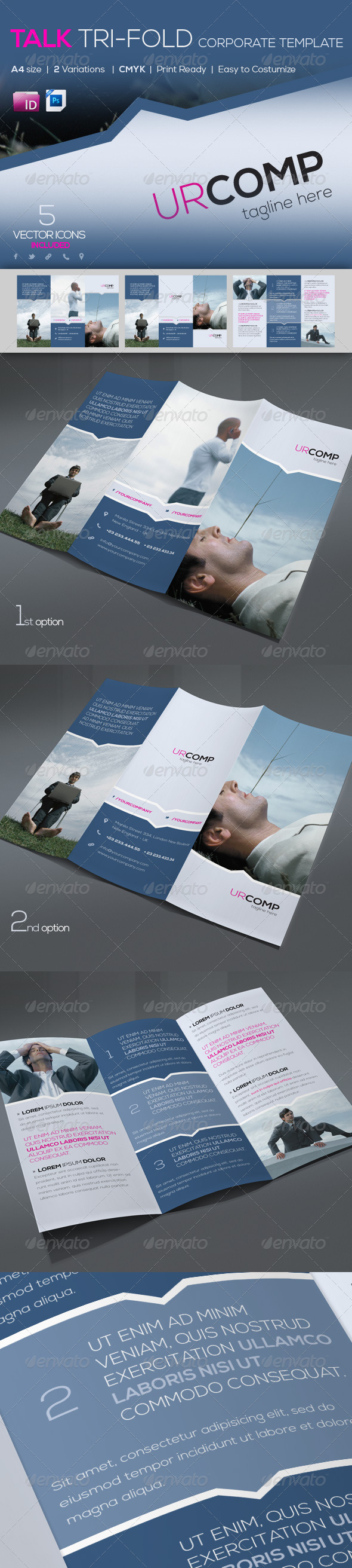 Talk Corporate Trifold Template | A4 - Corporate Brochures