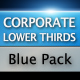 Corporate Lower Thirds Blue Pack - VideoHive Item for Sale
