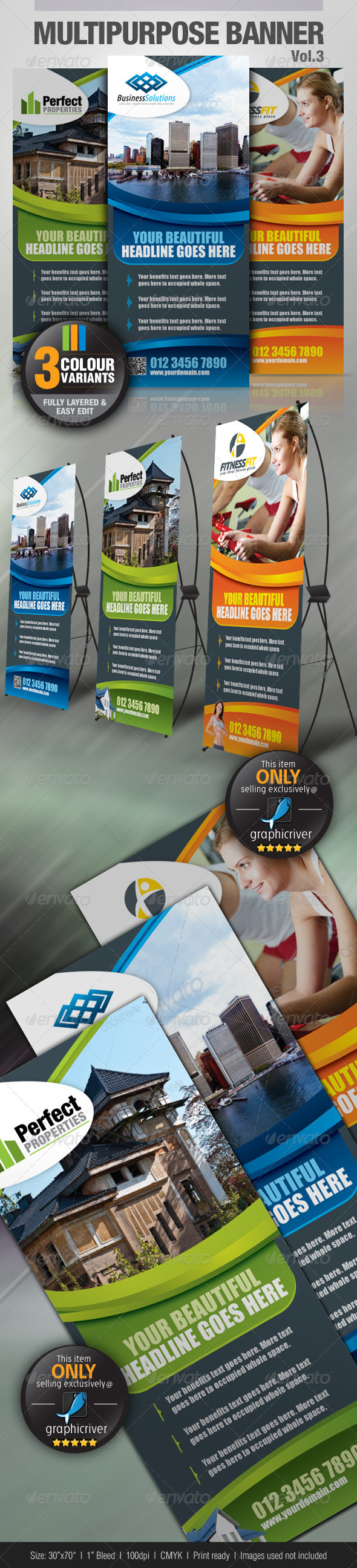 Multipurpose Banner Vol.3 - Signage Print Templates