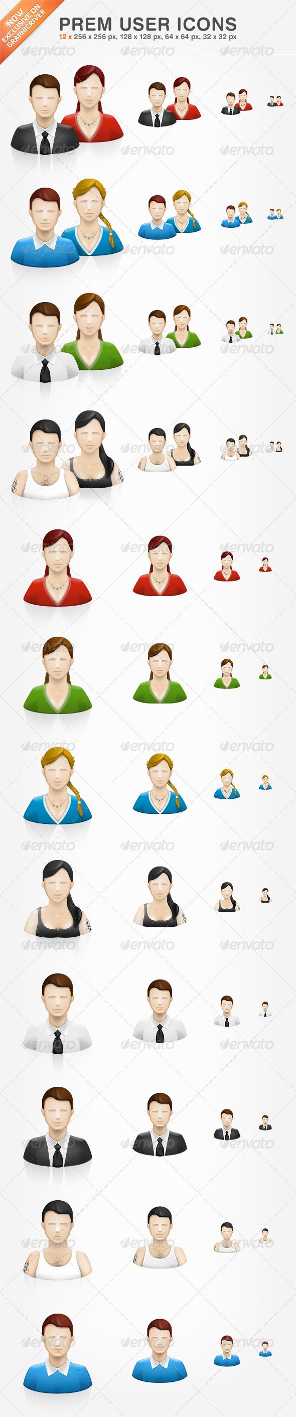 GraphicRiver Prem User Icons 317771