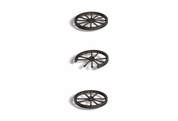 3DOcean Wood CartWheel 108839