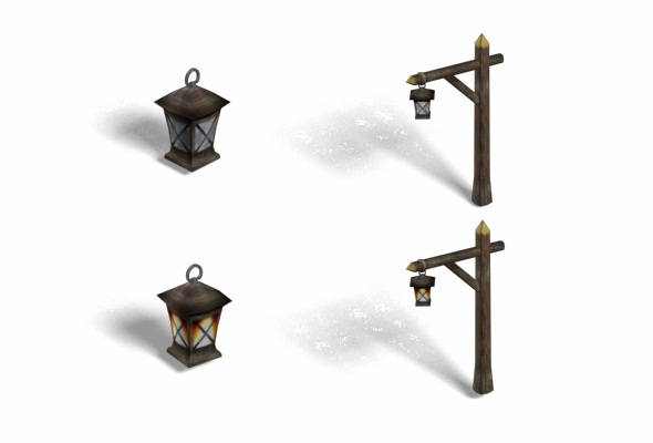 3DOcean Lamp Poles Collection 108842
