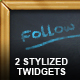 2 Stylized Twitter Widgets - GraphicRiver Item for Sale