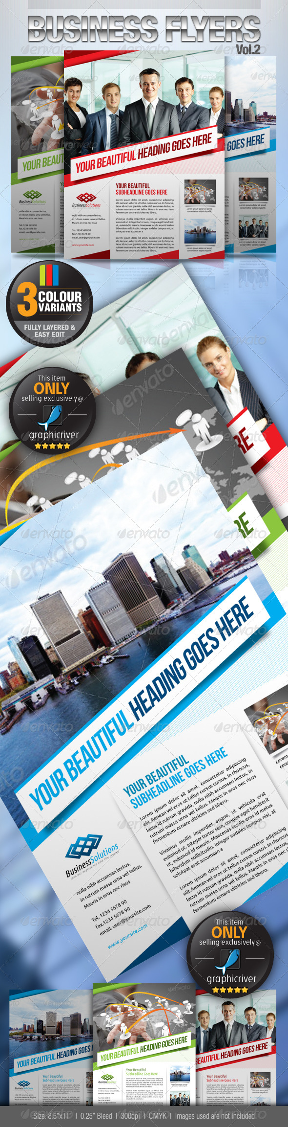 GraphicRiver Simple & Clean Corporate Flyers Vol.2 2625636