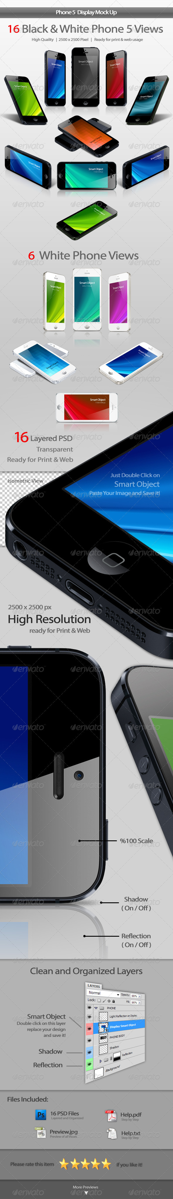 Phone 5 Display Mockup - Mobile Displays