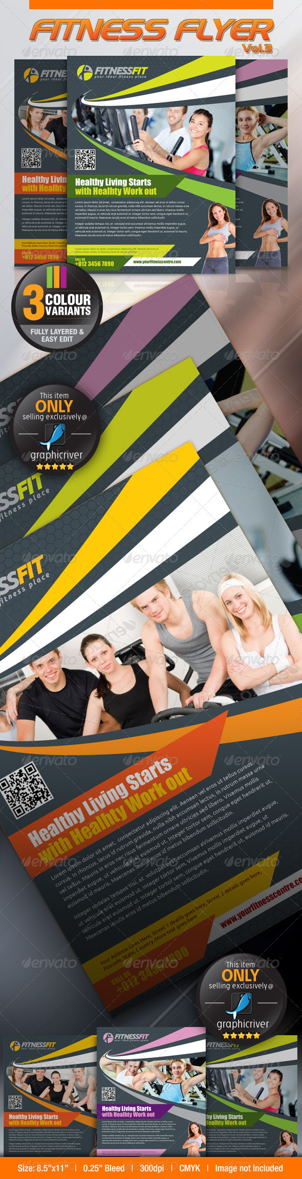 GraphicRiver Fitness Flyer Vol.3 2758427