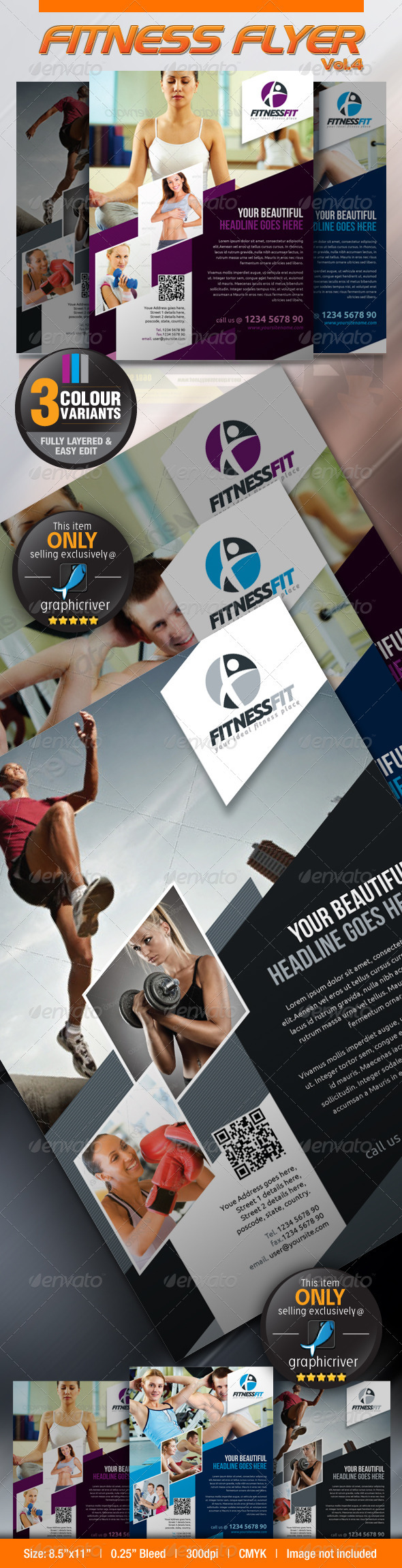 GraphicRiver Fitness Flyer Vol.4 2872424
