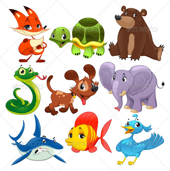 Set of animals. - Animals Characters