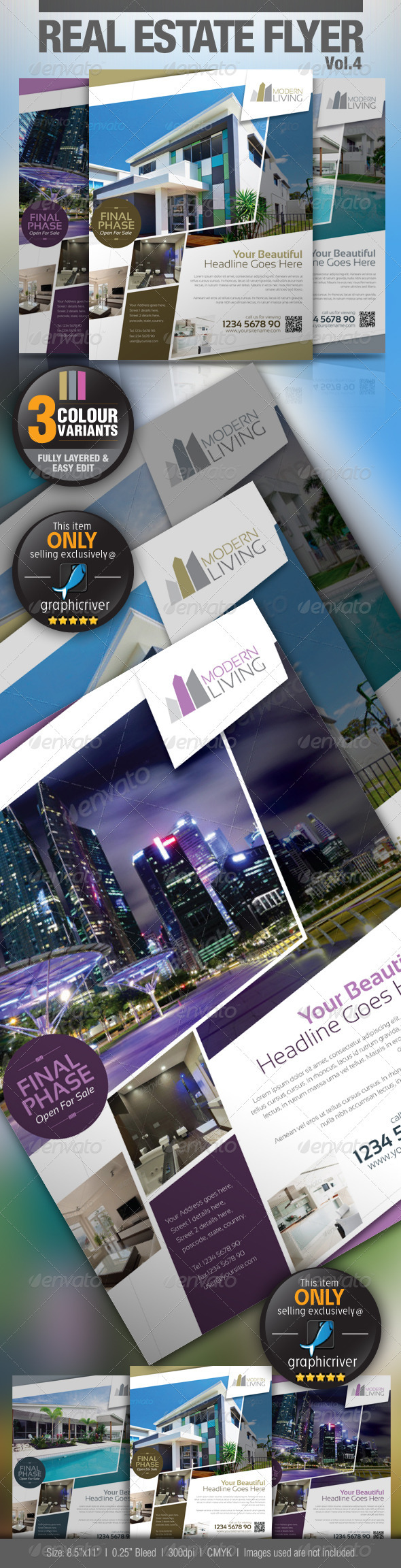 GraphicRiver Real Estate Flyer Vol.4 2879155