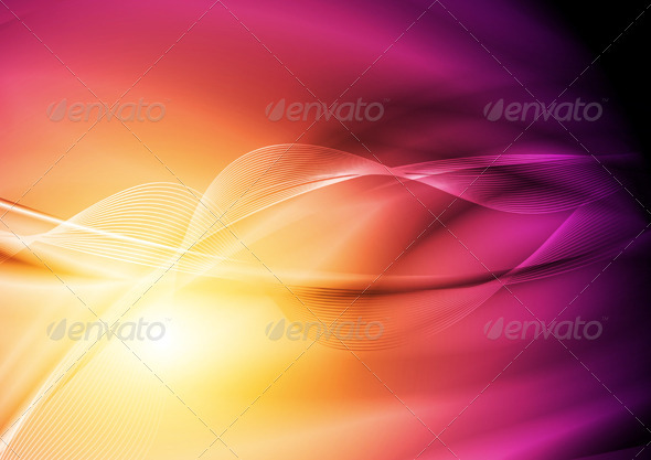 Vector wavy background - Abstract Conceptual