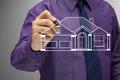 Businessman sketching house - PhotoDune Item for Sale