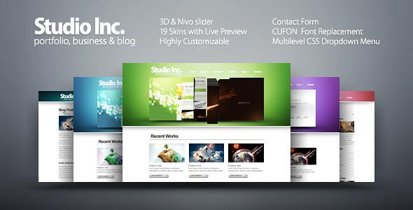 ThemeForest Studio Inc portfolio business & blog 100061