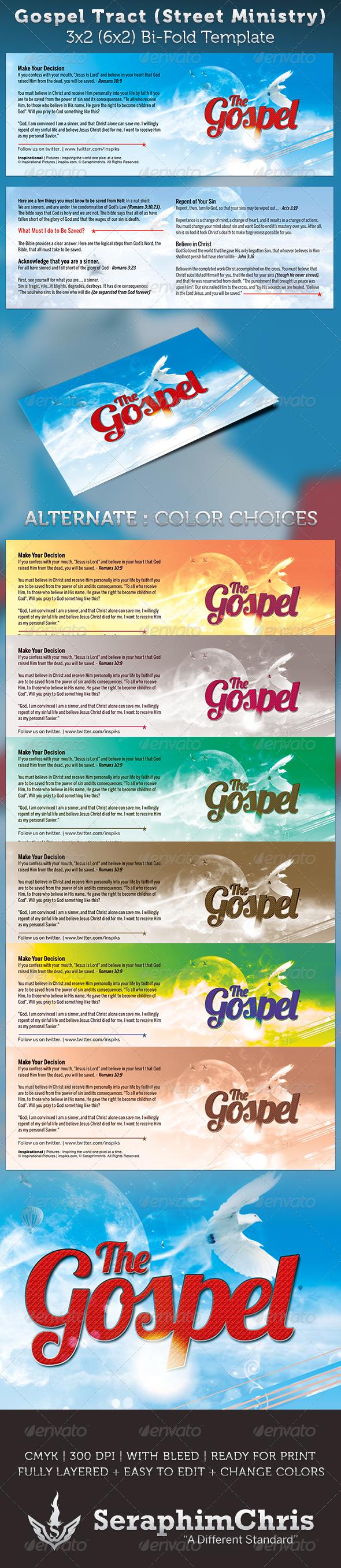 Gospel Tract Bi-Fold Template