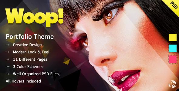 WOOP! - Creative Portfolio PSD Template