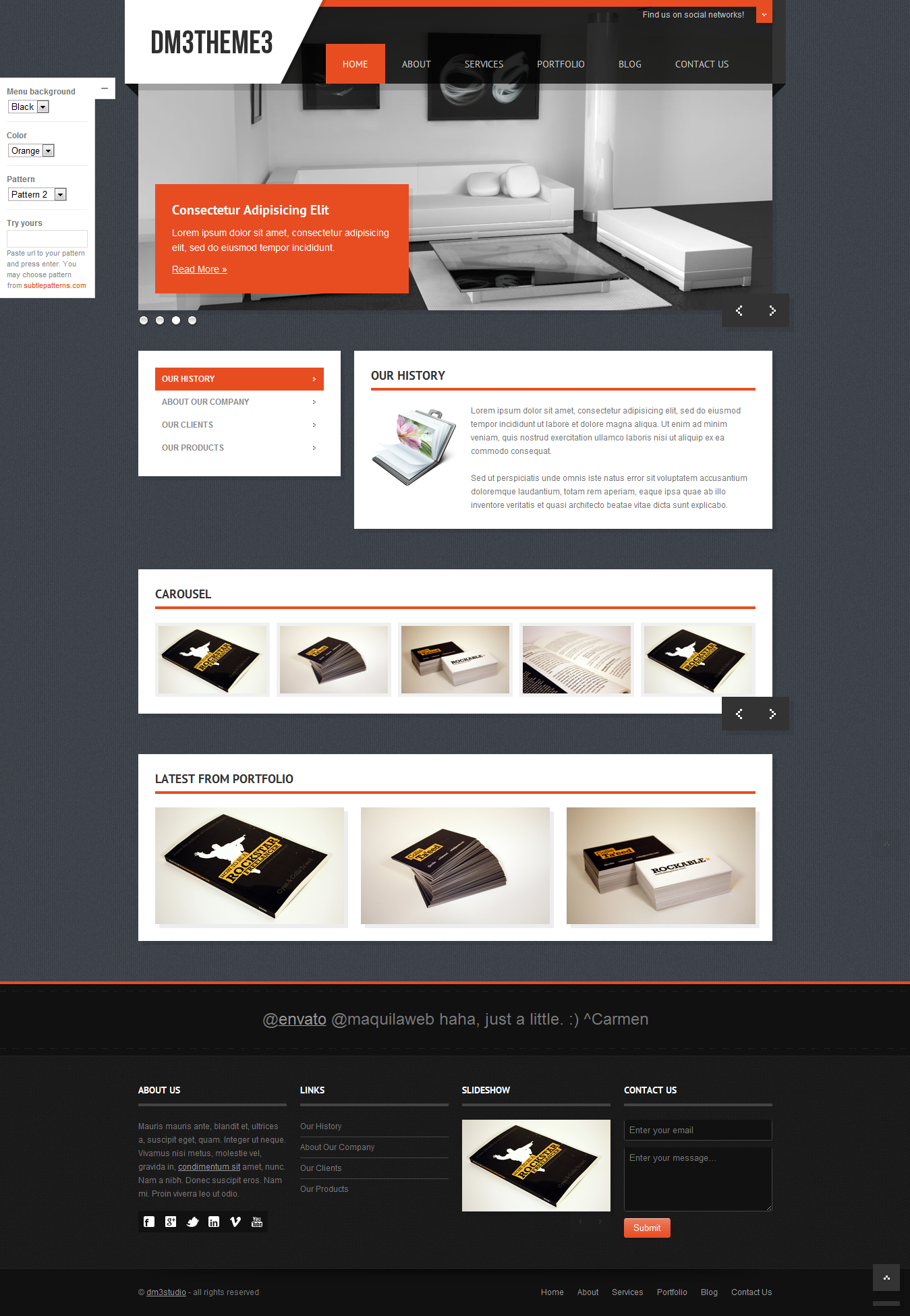 Dm3theme3 - Responsive Business Template