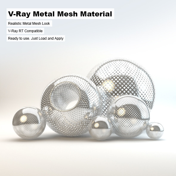 Metal mesh material vray free for Mirror vray material