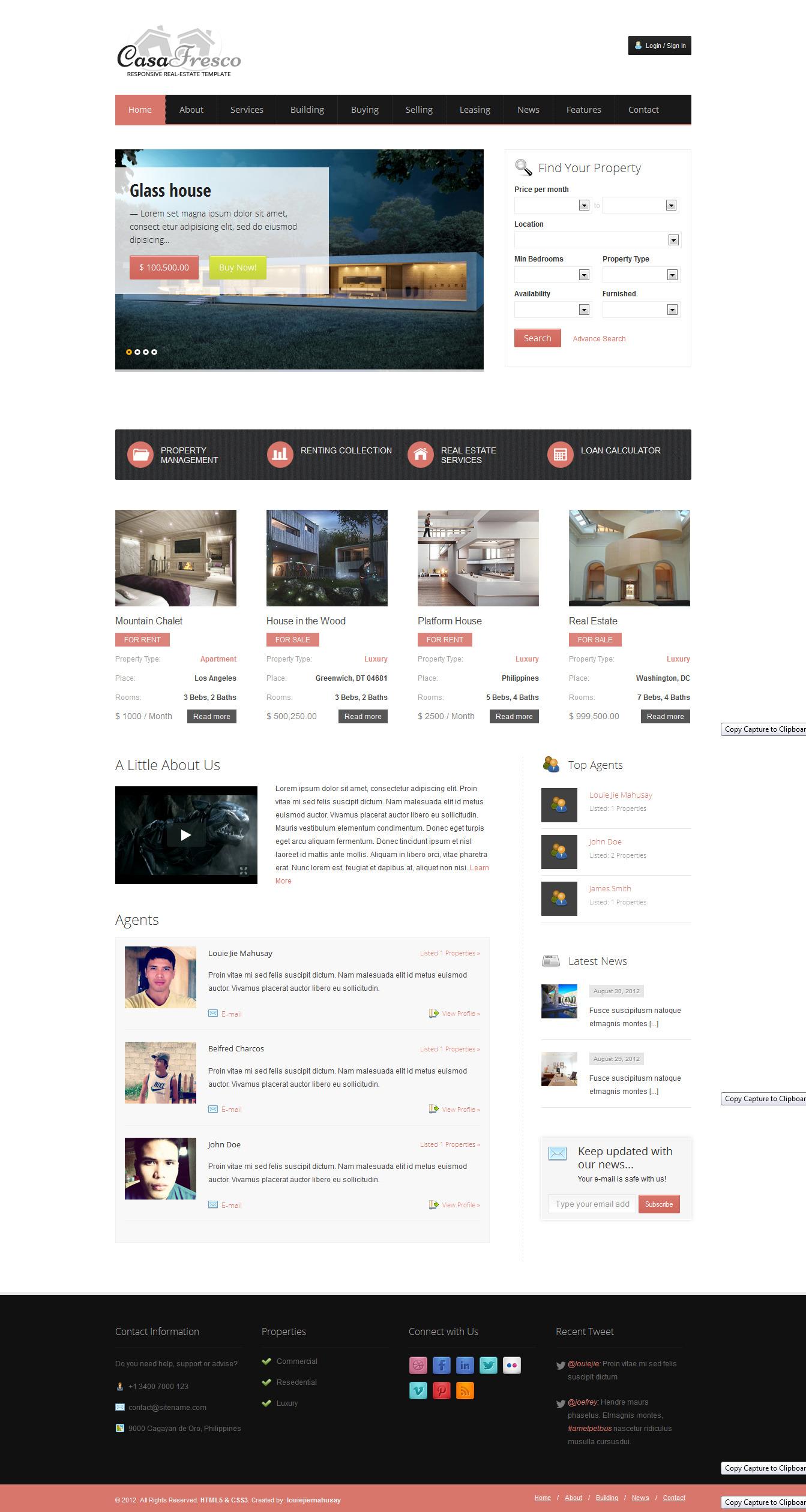 Casa Fresco - A Responsive Real Estate Template -