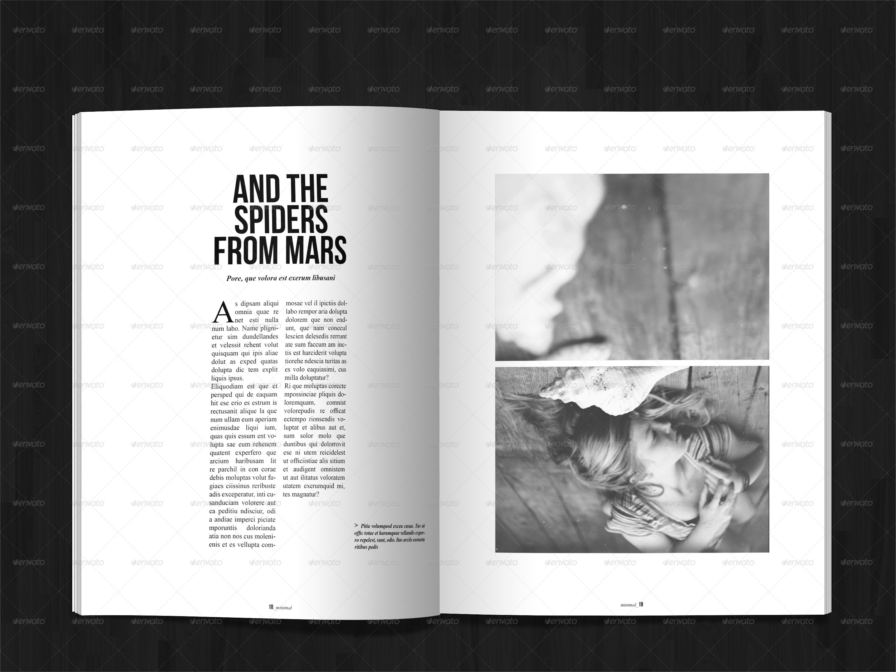 40 Pages Minimal Magazine By Gianlucacarraro86 Graphicriver
