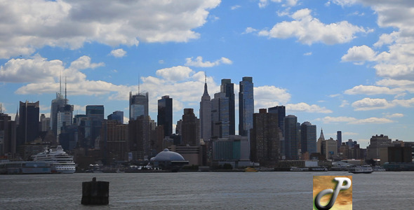 Manhattan View With Clouds Full HD