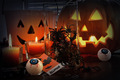 Pumpkins and candles for Halloween - PhotoDune Item for Sale