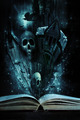 Open story book with Halloween stories coming alive - PhotoDune Item for Sale