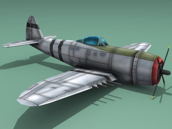 3DOcean Republic P-47 Thunderbolt 3091605