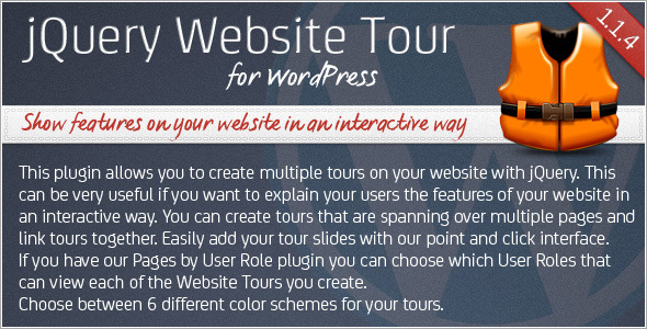CodeCanyon jQuery Website Tour for WordPress 335968