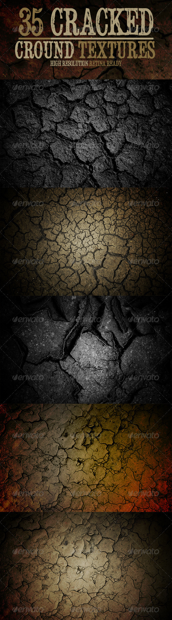 Cracked Ground Textures - Industrial / Grunge Textures