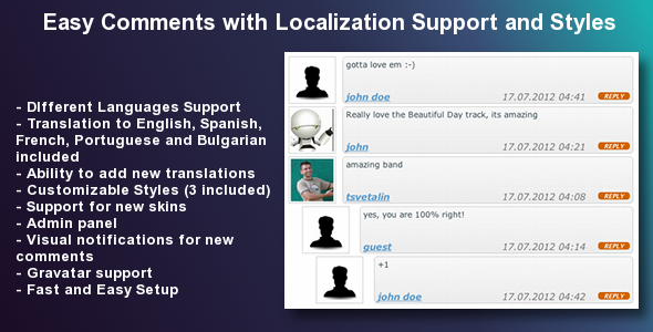 CodeCanyon Easy Comments with Localization Support and Styles 2678218