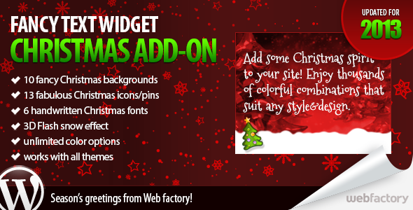 CodeCanyon Christmas add-on for Fancy Text Widget 750096