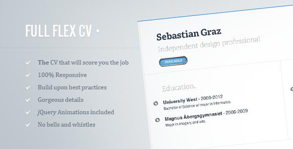 FULL FLEX CV - Fully Responsive HTML5 Resume