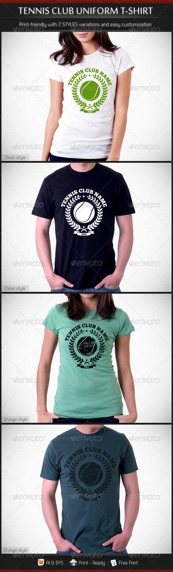 Tennis Club Uniform T-Shirt Template