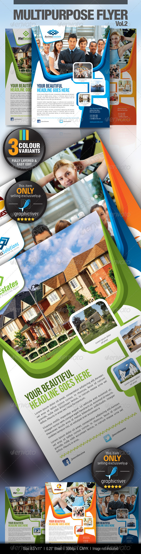 GraphicRiver Multipurpose Business Flyer Vol.2 2615944