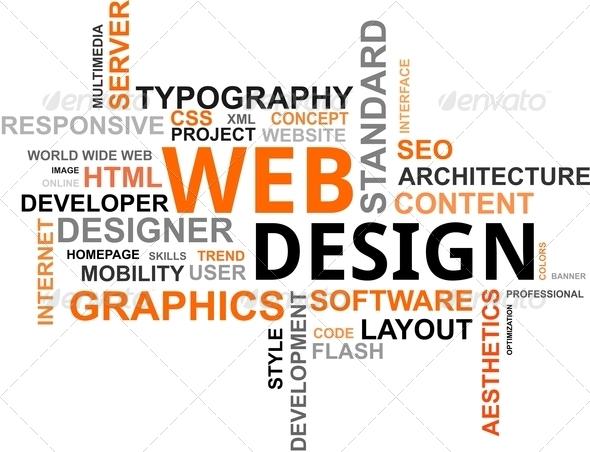 PhotoDune Word cloud web design 3095241