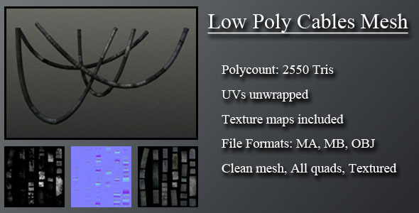 3DOcean Low Poly Cables Mesh 3090367