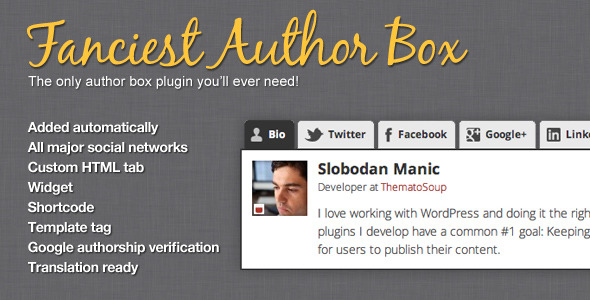 CodeCanyon Fanciest Author Box 2504522