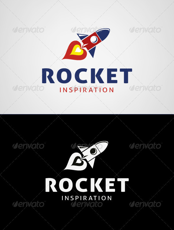 Rocket Inspiration Logo Template