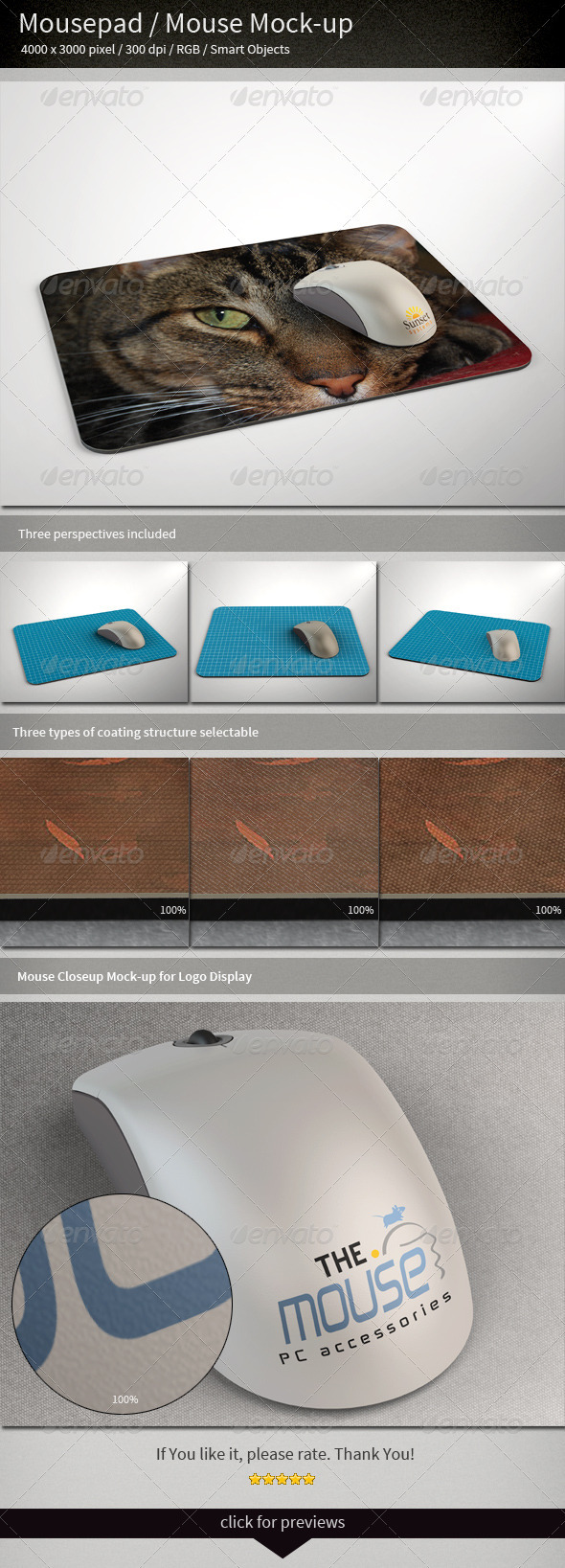 GraphicRiver Mousepad Mouse Mock-up 3098325