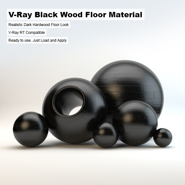 3DOcean V-Ray Black Wood Material 3098327